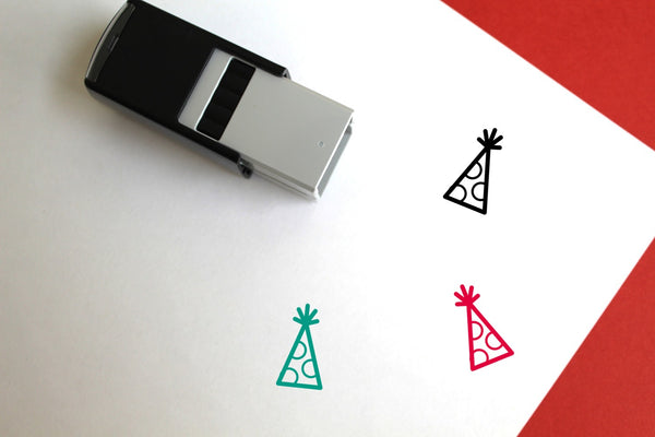 Party Hat Self-Inking Rubber Stamp