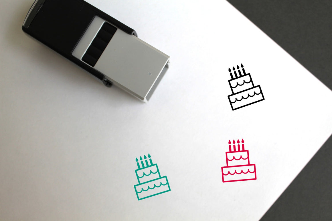 Cake Self-Inking Rubber Stamp