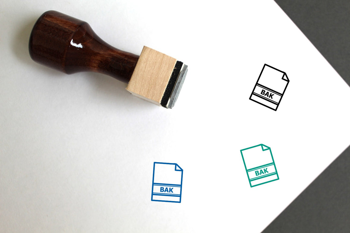 Type Wooden Rubber Stamp