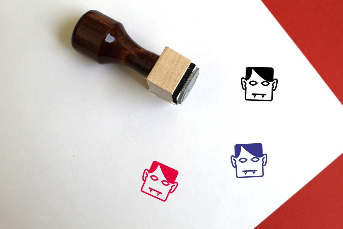 Vampire Wooden Rubber Stamp
