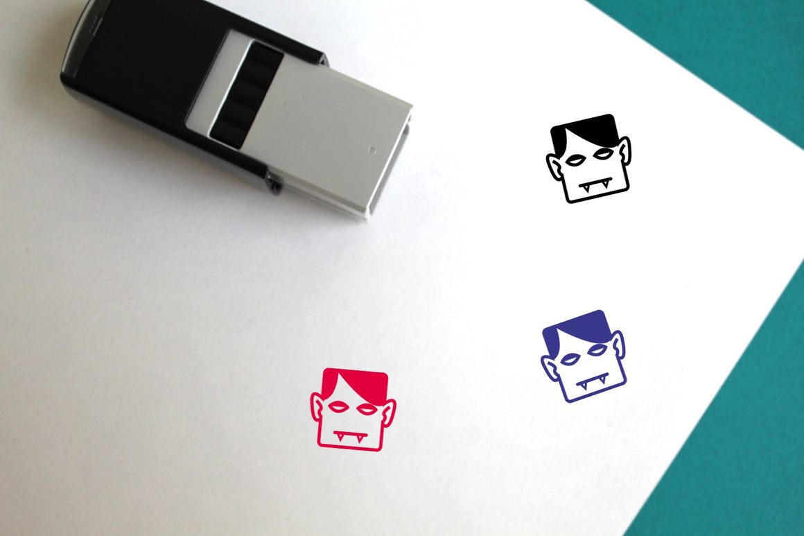 Vampire Self-Inking Rubber Stamp