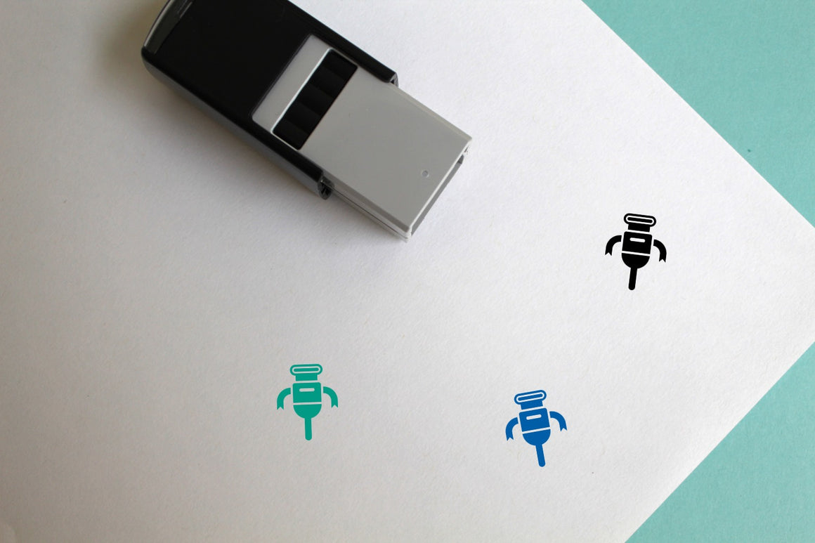 Robot Self-Inking Rubber Stamp