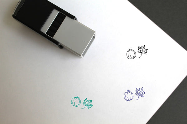 Autumn Self-Inking Rubber Stamp