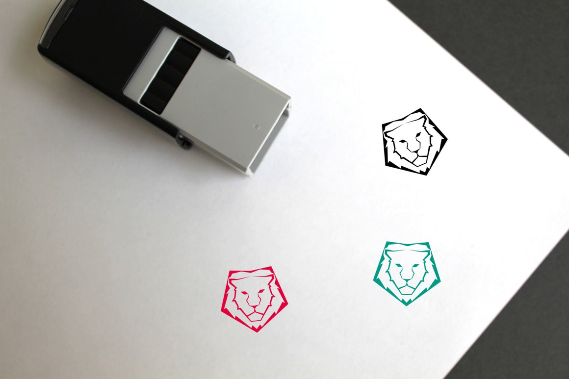 Lion Self-Inking Rubber Stamp
