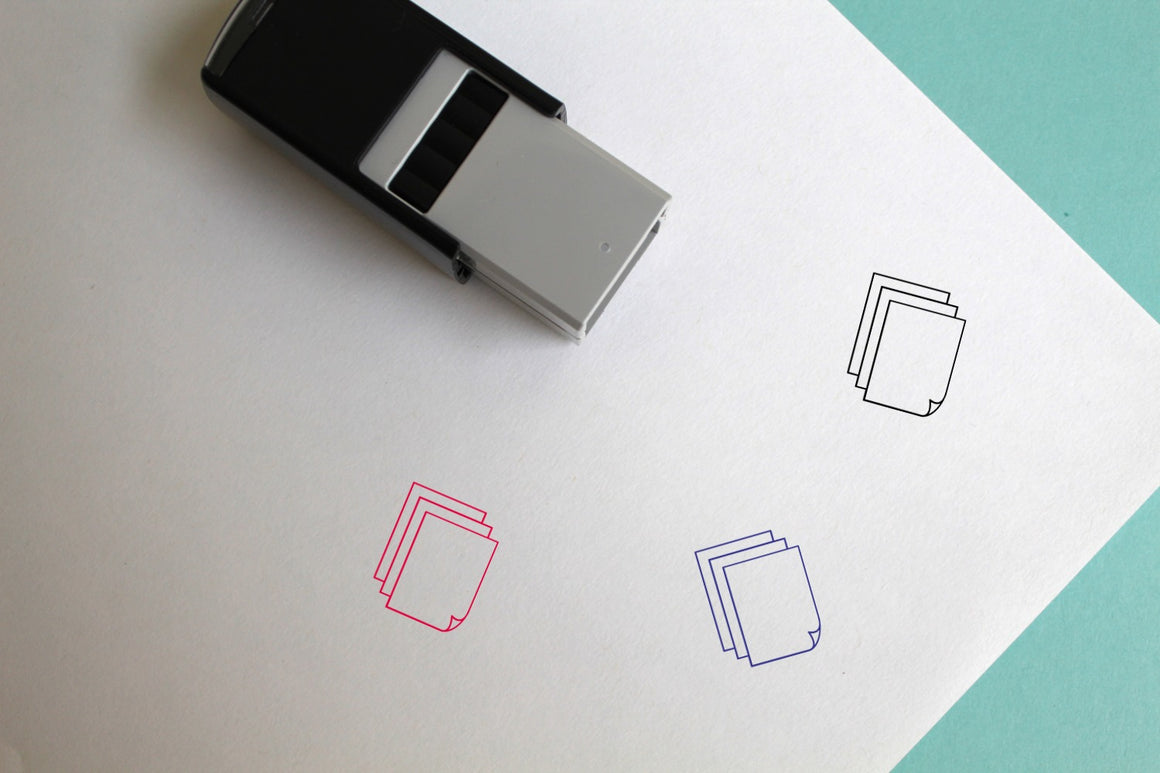 Papers Self-Inking Rubber Stamp