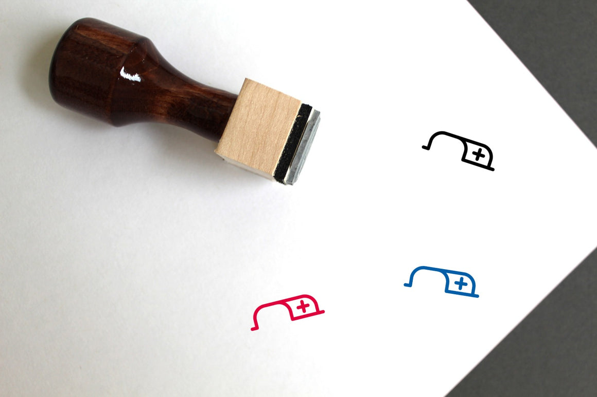 New Tab Wooden Rubber Stamp