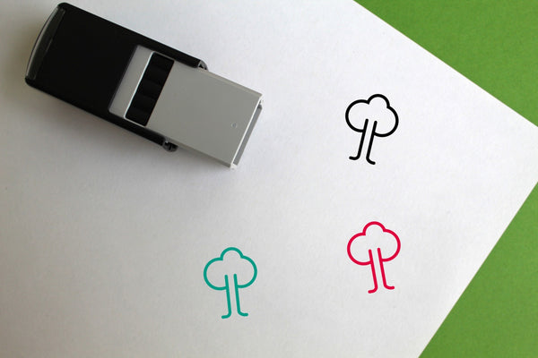 Tree Self-Inking Rubber Stamp