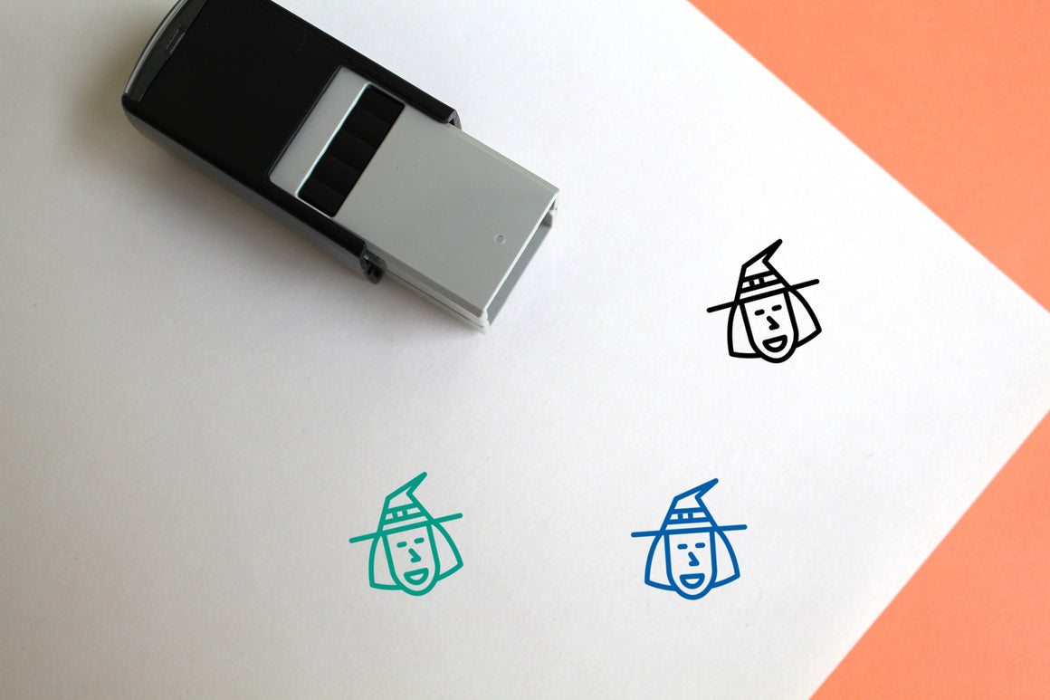 Witch Self-Inking Rubber Stamp
