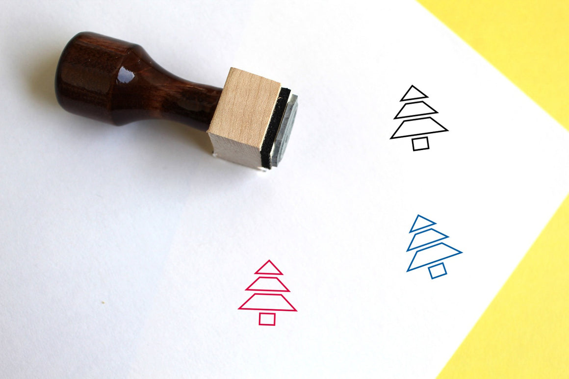 Tree Wooden Rubber Stamp