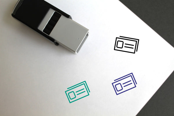 Identification Self-Inking Rubber Stamp
