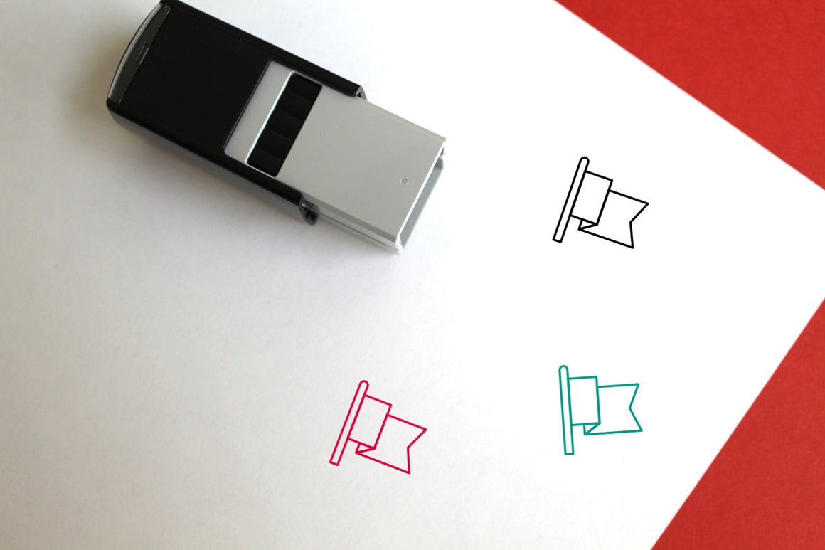 National Flag Self-Inking Rubber Stamp