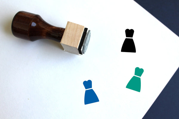 Costume Wooden Rubber Stamp