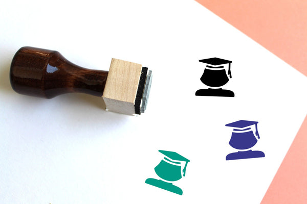 Student Wooden Rubber Stamp