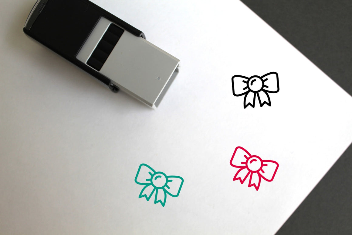 Bow Self-Inking Rubber Stamp