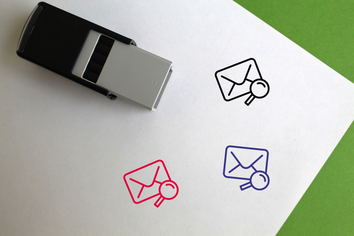 Mail Search Self-Inking Rubber Stamp