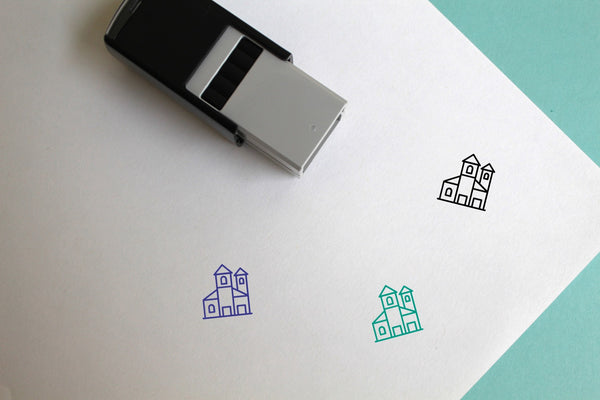 Town Self-Inking Rubber Stamp