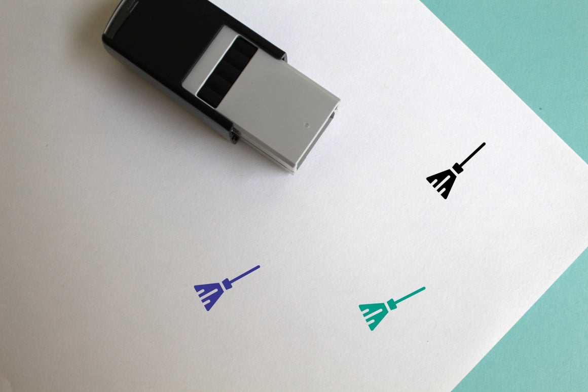 Broom Self-Inking Rubber Stamp