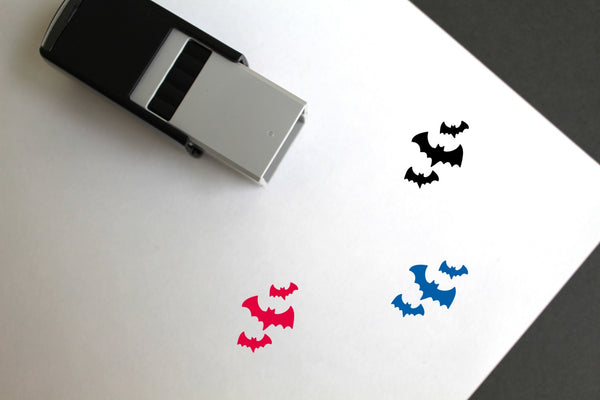 Bats Self-Inking Rubber Stamp