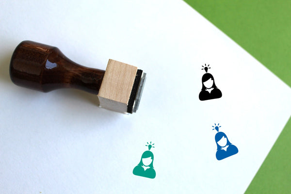 User Wooden Rubber Stamp