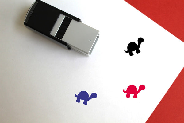 Tortoise Self-Inking Rubber Stamp