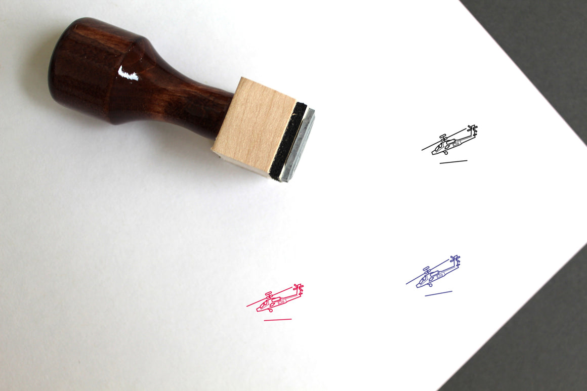 Apache Wooden Rubber Stamp
