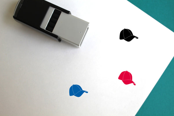 Hat Self-Inking Rubber Stamp