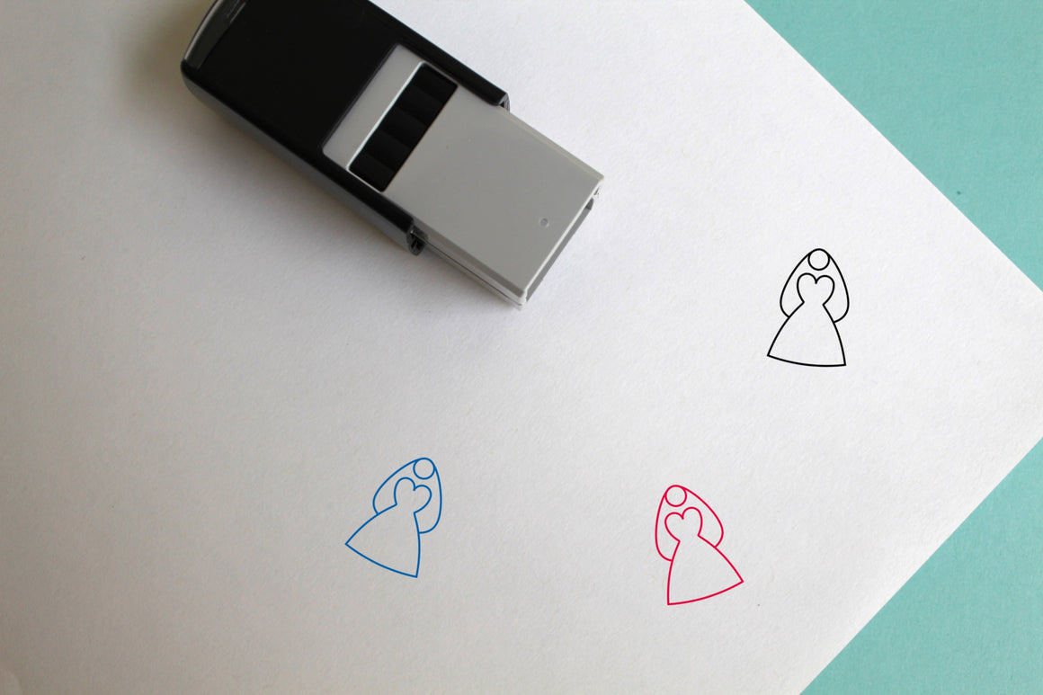 Bride Self-Inking Rubber Stamp