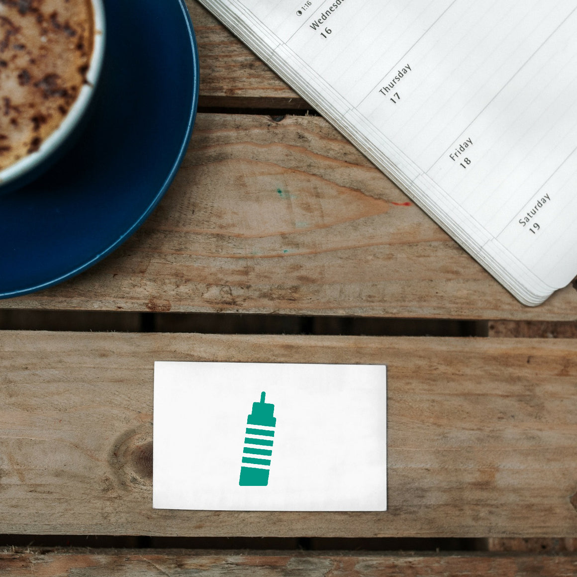 Leaning-Tower Rubber Stamp