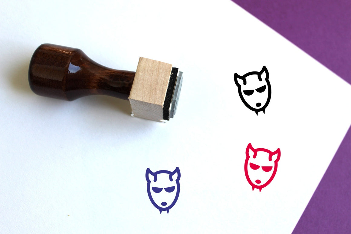 Werewolf Wooden Rubber Stamp