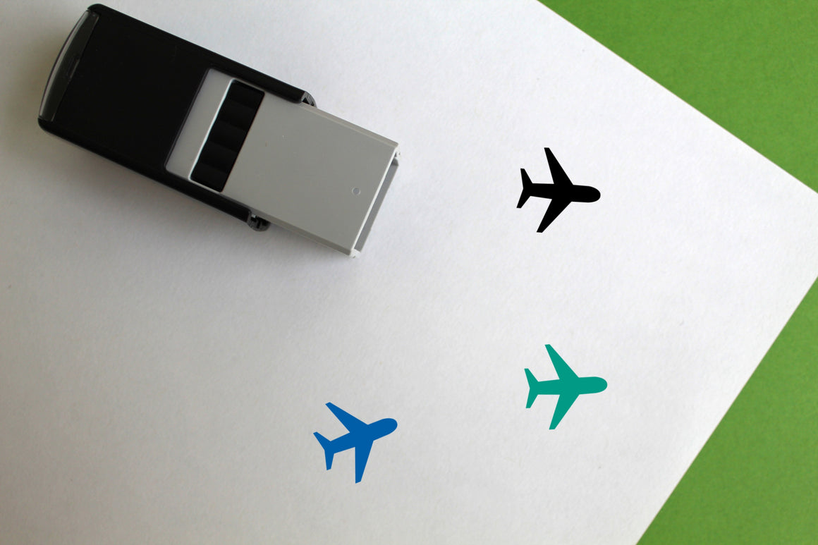 Airport Self-Inking Rubber Stamp