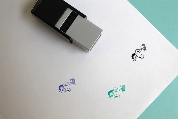 Talk Self-Inking Rubber Stamp
