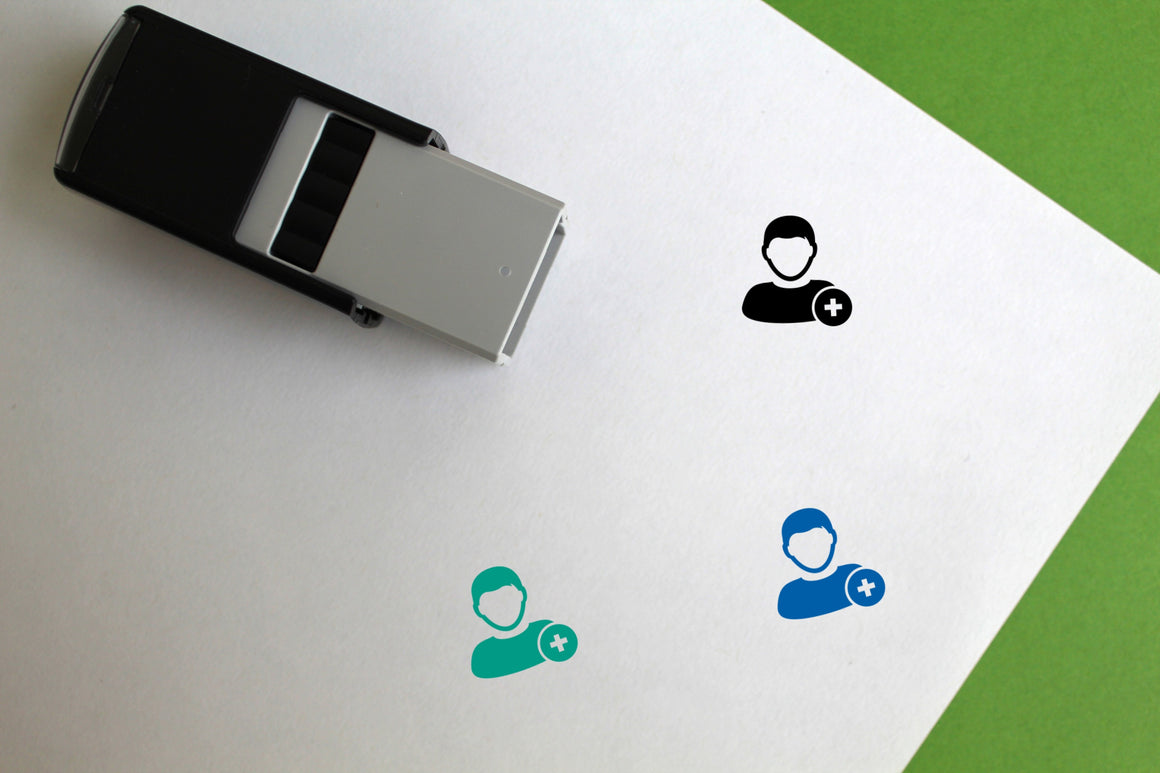 Add User Self-Inking Rubber Stamp