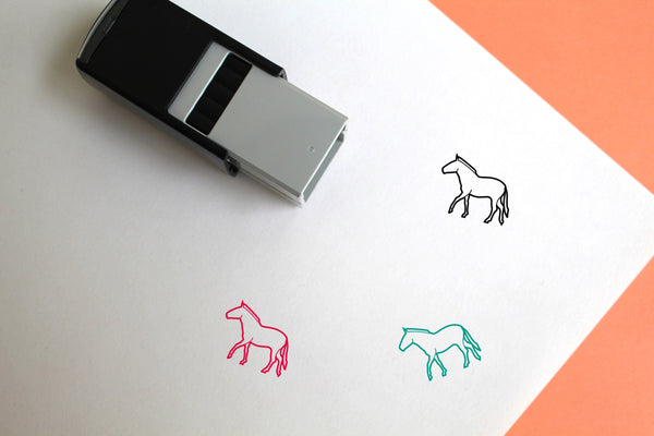 Horse Self-Inking Rubber Stamp