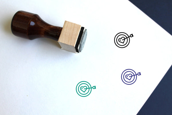Aim Wooden Rubber Stamp