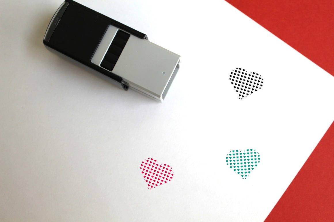 Valentine Self-Inking Rubber Stamp