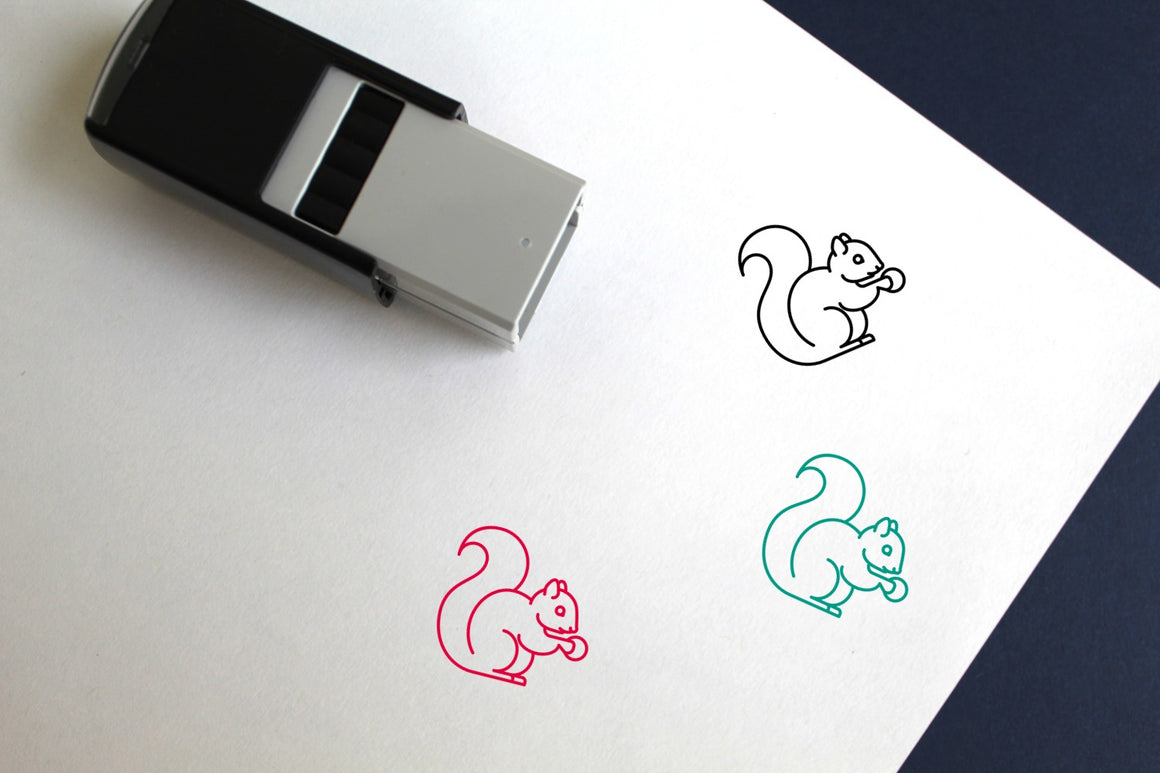 Squirrel Self-Inking Rubber Stamp