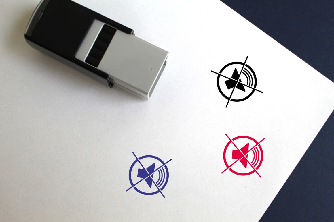 No Sound Self-Inking Rubber Stamp