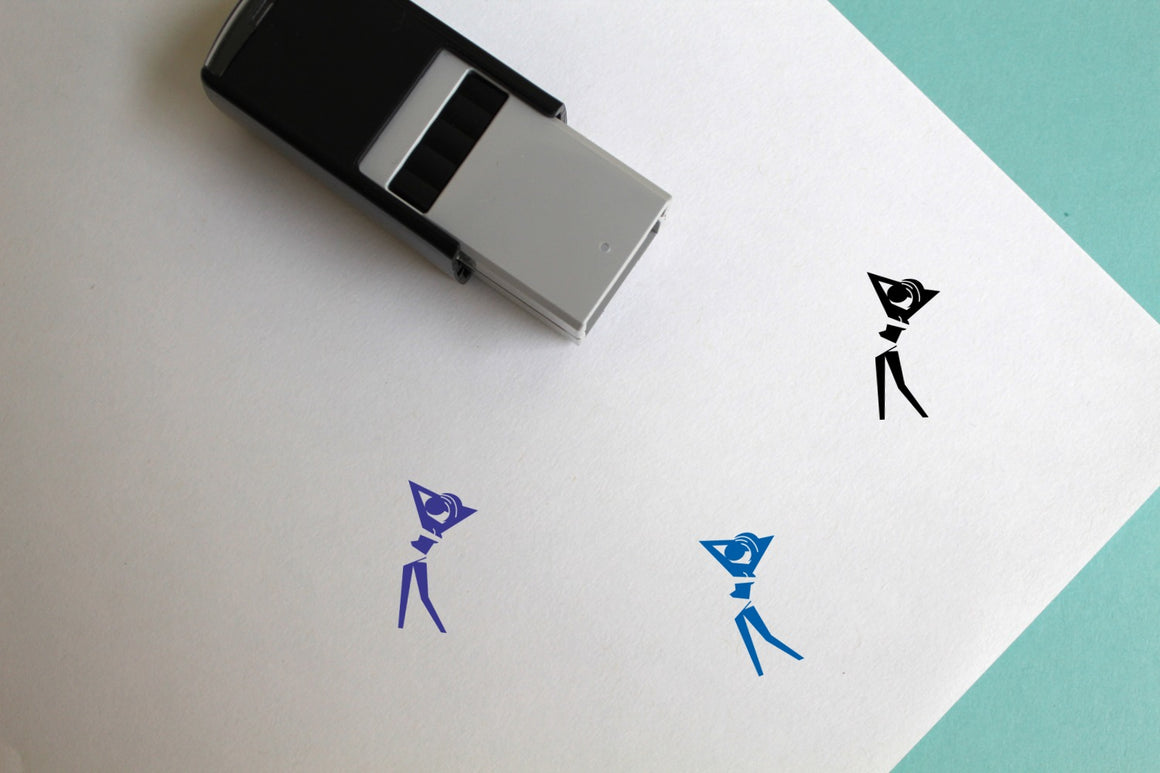 Girl Self-Inking Rubber Stamp