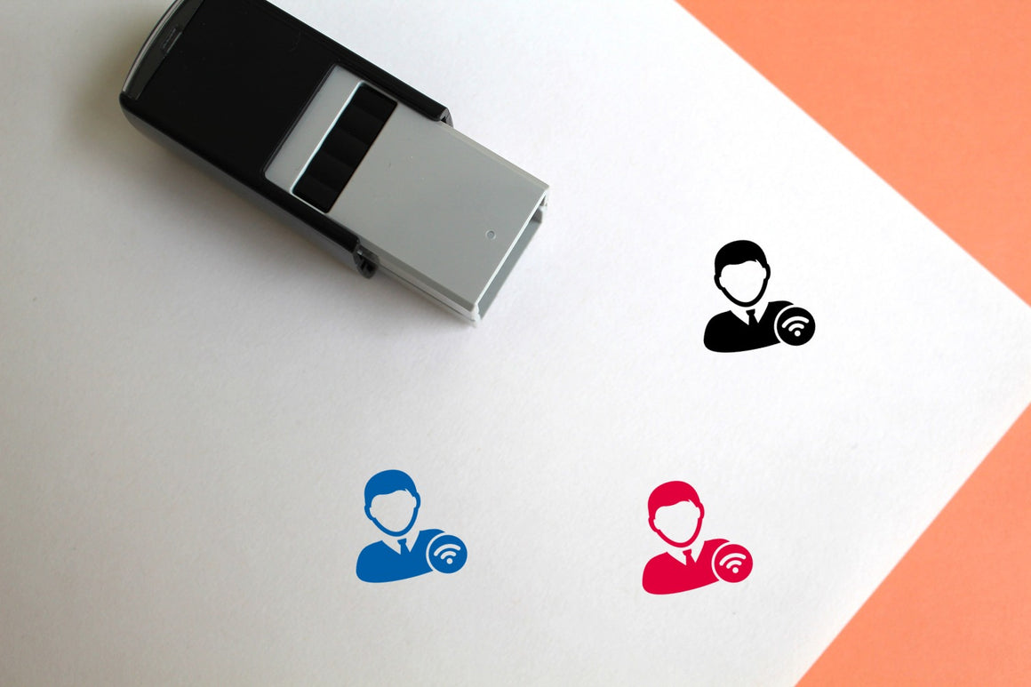 Wifi User Self-Inking Rubber Stamp