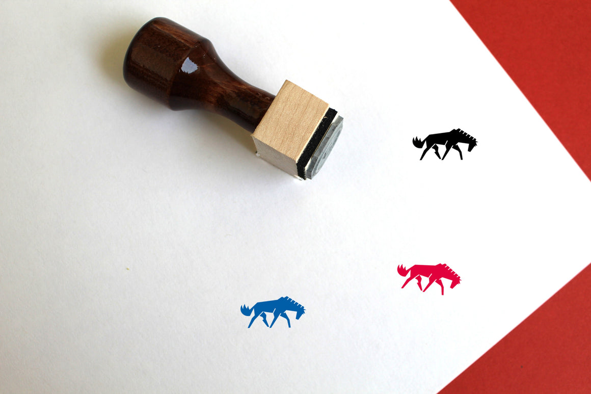 Horse Wooden Rubber Stamp