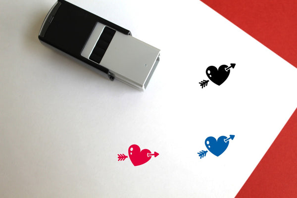 Cupid Self-Inking Rubber Stamp