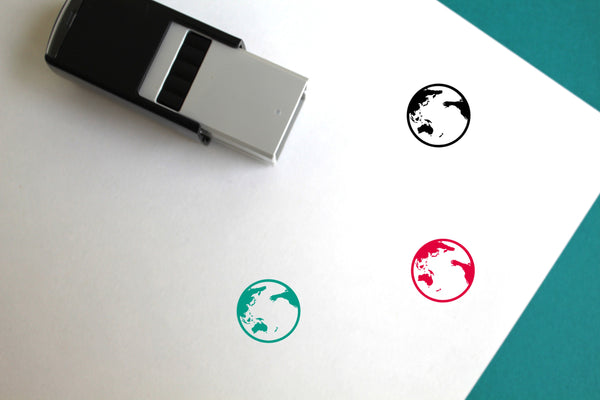 Earth Self-Inking Rubber Stamp