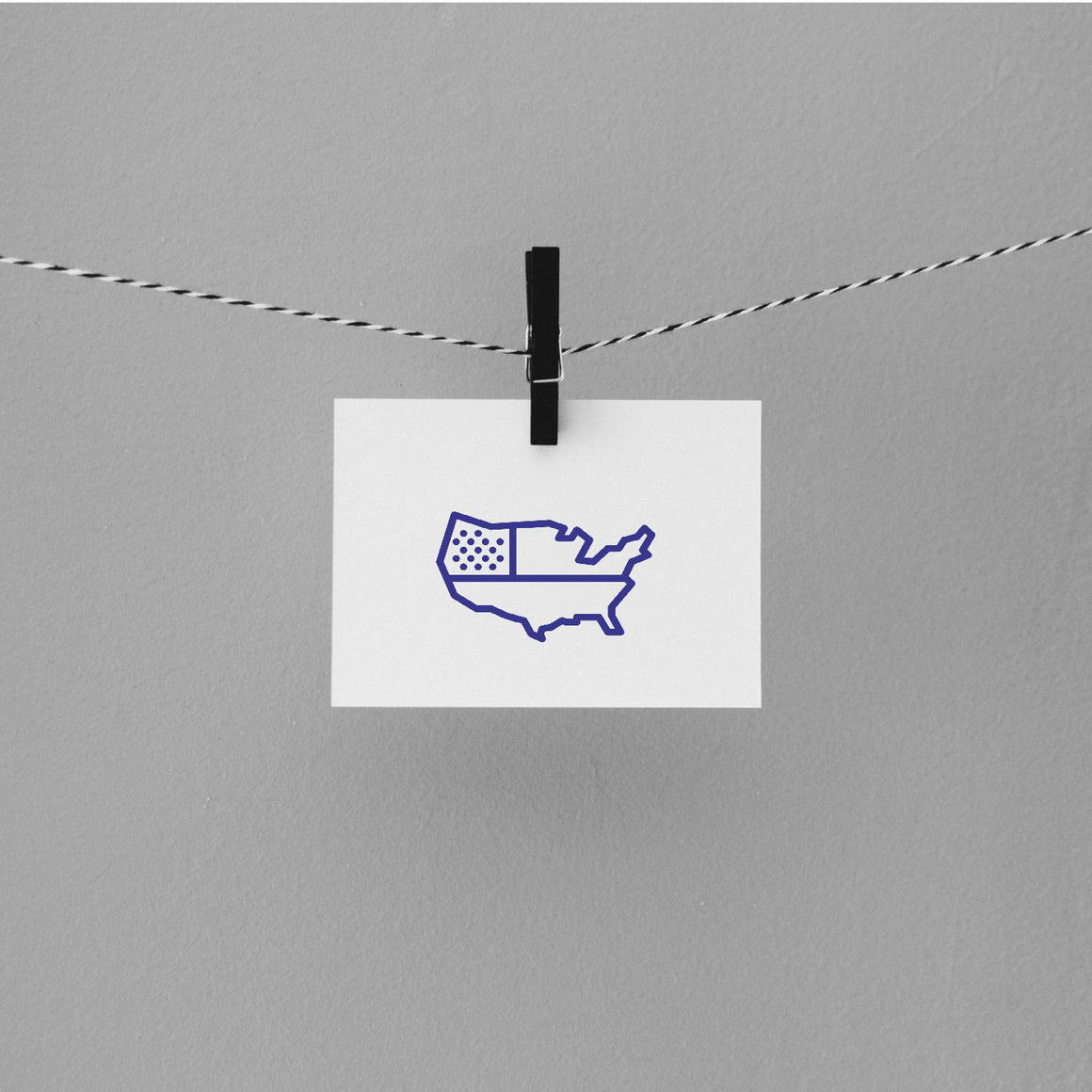 Map Of United States Rubber Stamp