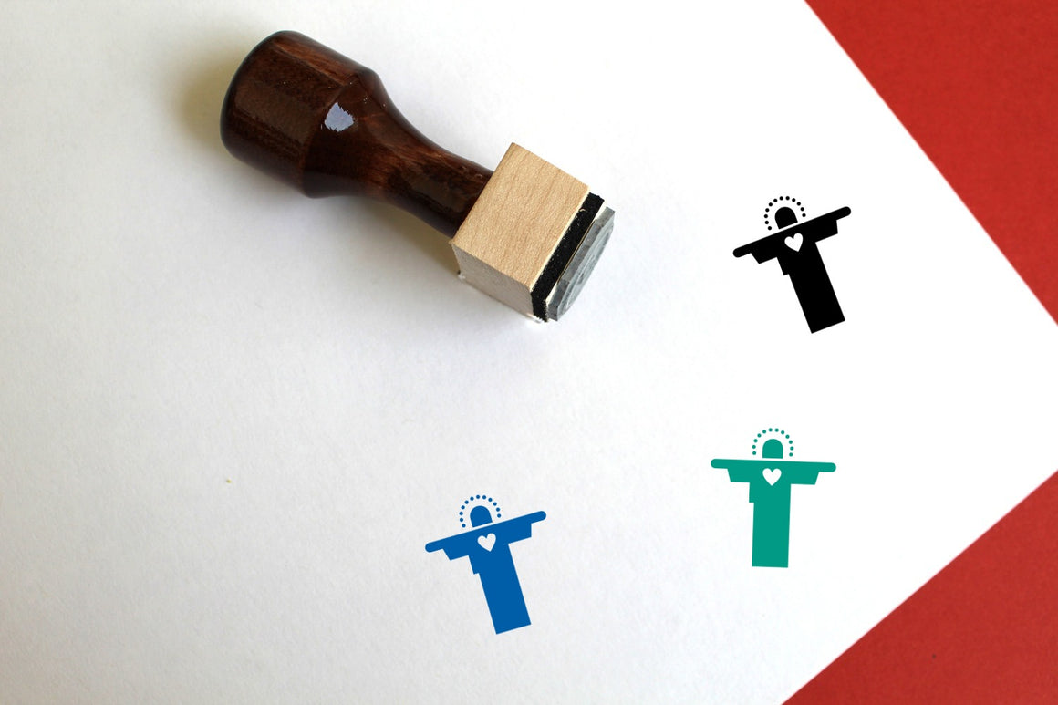 Jesus Wooden Rubber Stamp