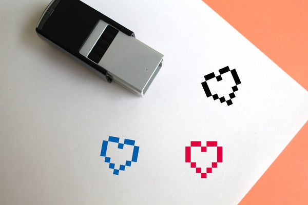 Heart Self-Inking Rubber Stamp