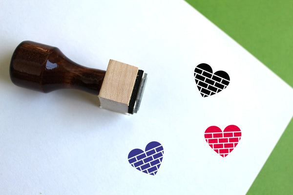 Build On Love Wooden Rubber Stamp