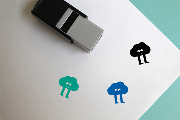 Cloud Self-Inking Rubber Stamp