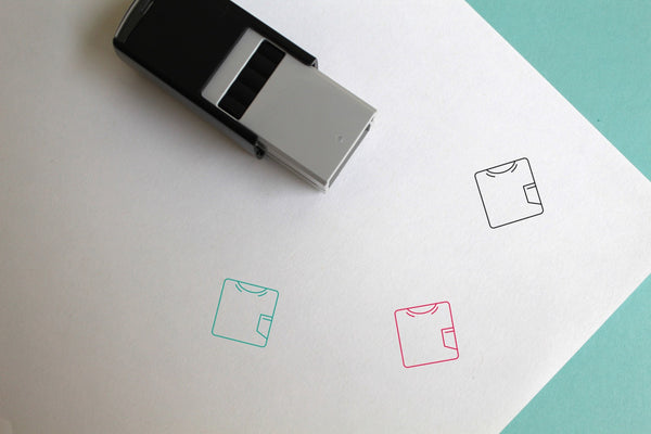 Tshirt Self-Inking Rubber Stamp