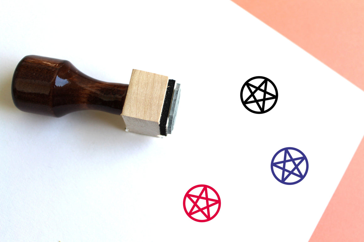 Pentacle Wooden Rubber Stamp