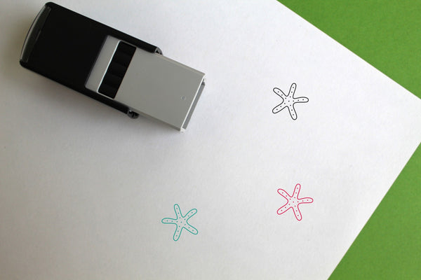 Starfish Self-Inking Rubber Stamp